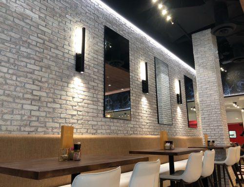 Ambrizia Social Kitchen, full Linear LED accent